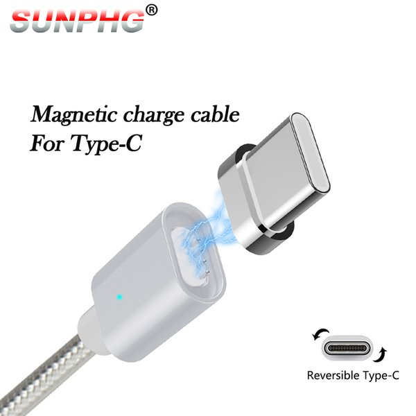 LED Magnetic Charging Cable For Type C Mobile Phone Magnet Charger Data USB Cables Wire for samsung Android Mobile Phone