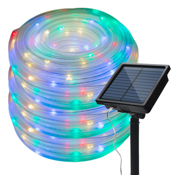 33ft 100 Leds Solar Rope Lights Led String Lights Waterproof Solar Powered Decoration Light For Gardens Patios Homes Parties Patio Lights String
