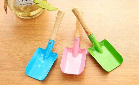 best selling 300pcs Mini Gardening Shovel Colorful Metal Small Shovel Garden Spade Hardware Tools Digging Garden Tools Kids Spade Tool lin4199