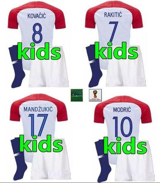 detailed look 39ab8 a6e1a 2018 2018 Croatia Luka Modric Kids Jerseys,Maillot De Foot Camisetas Futbol  Croatian Croatie Youth Croazia Soccer Jersey Football Kits From ...