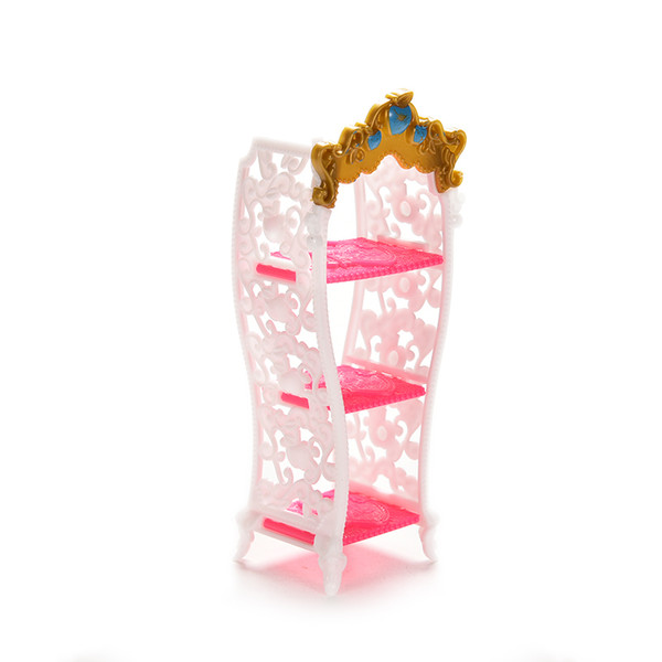 1 Pcs Doll Toy Shoe Cabinet Mini Living Room Home Furniture For Doll Accessories Color Random