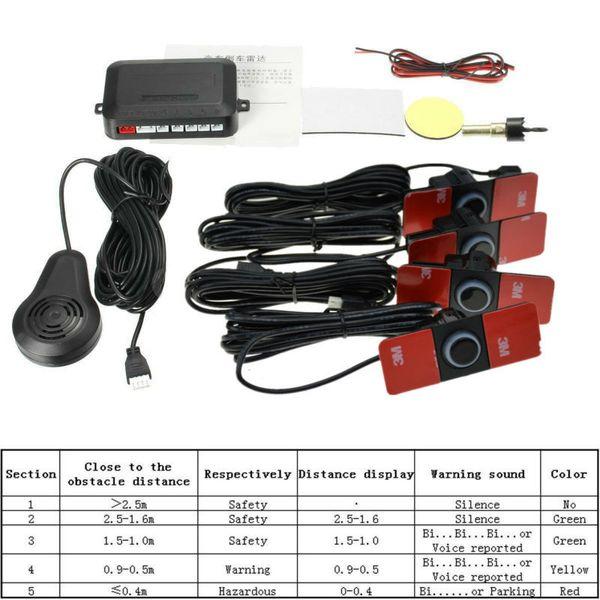 top popular 16.5MM Flat Parking Sensor Mini Simple with Switch Stick Wing Probe Car Reversing Four Sensors Multiple Color Drill 16mm DC 12V 2021