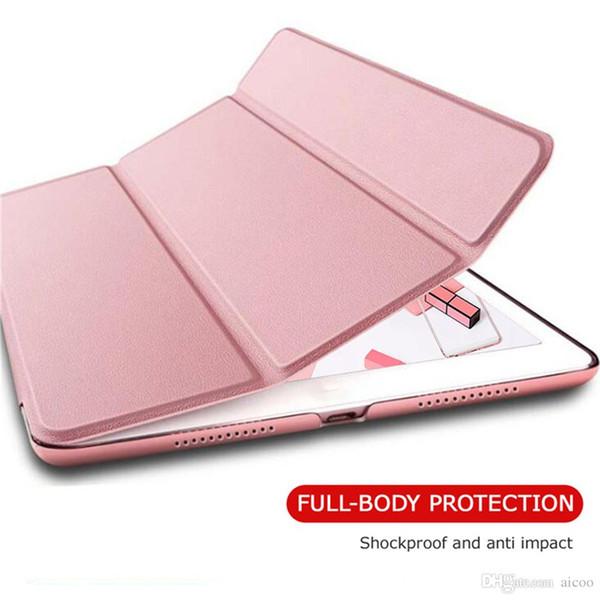 Ultra thin Auto Sleep Smart Filp Hard PC Back Cover For iPad 2 3 4 5 6 Air 2 Pro 10.5 mini 3 4 Pro 9.7 2017 Opp Aicco