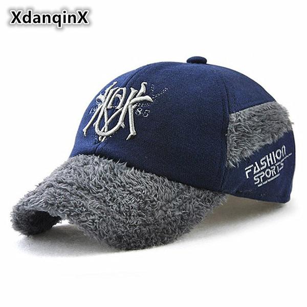 Çocuk Şapkaları Kış Kalın Sıcak Kulakları Ile Beyzbol Şapkası Koruma Erkek Kız Moda Ördek Dil Caps Yeni Stil Çocuk Şapka