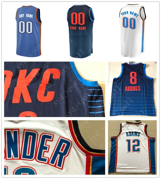 cheap for discount 88fae 3cf87 2018 Printed 17 Dennis Schroder Jerseys Russell Westbrook Paul George  Steven Adams Andre Roberson Alex Abrines Jerami Grant Men Women Youth Kids  From ...