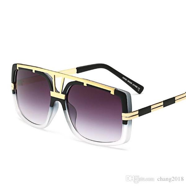 Designer de moda Marca D Quadrado Top Hip Hop Rock Mulheres Óculos De Sol Gozluk Senhoras de Grandes Dimensões kim kardashian óculos de Sol 180206
