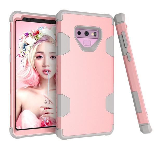 Para el iphone X 8 7 Plus Hybrid Case resistente a los golpes de goma mate a prueba de golpes Heavy Hard Case para el iphone 5 6s 6plus iphone7 7 plus samsung note 9 8