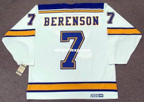 Custom Hombres RED BERENSON St. Louis Blues 1967 CCM Jerseys Vintage Away Cheap Retro Hockey Jersey