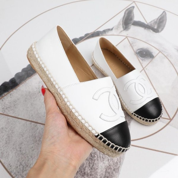 Flats shoes summer women fashion luxury brand slip-on casual shoes pearl Designer Fabric shoes size 34-42 With Original box