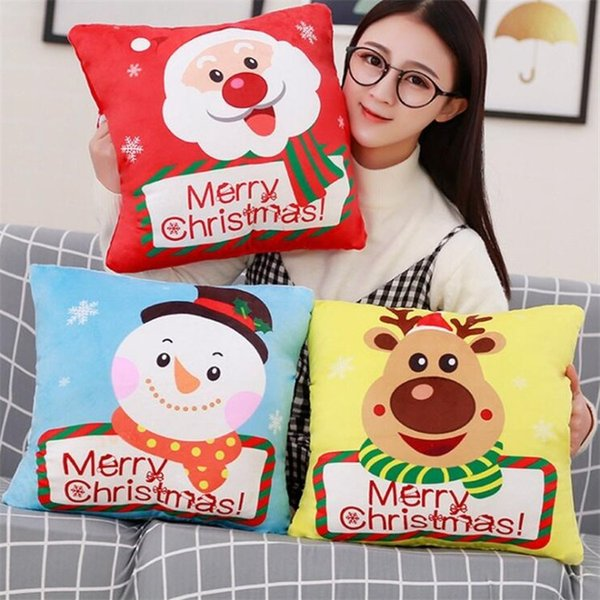Fashion Santa Claus Doll Plush Toys Elk Doll Christmas Gift Pillow Hand Cover Blanket Three In One T7I553