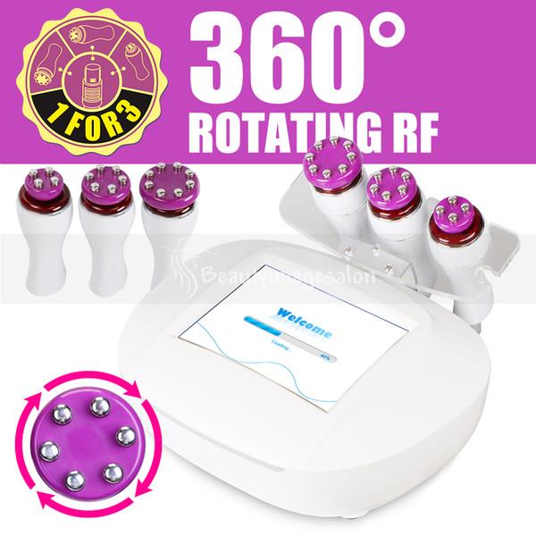 Solte as mãos! 360 ° Girando 3D RF Inteligente Cabeça Radiofrequência Emagrecimento Rejuvenescimento Da Pele Elevador Facial Máquina de Beleza