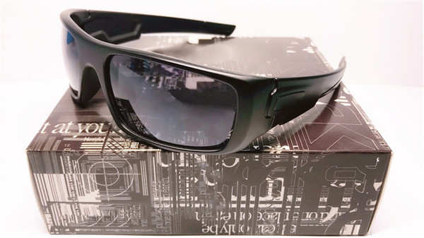 2019 Popular 9239 Square Outdoor Sports Occhiali da equitazione CORANKSHAFT Occhiali da sole Black Frame POLARIZED Iridium Lens Spedizione gratuita