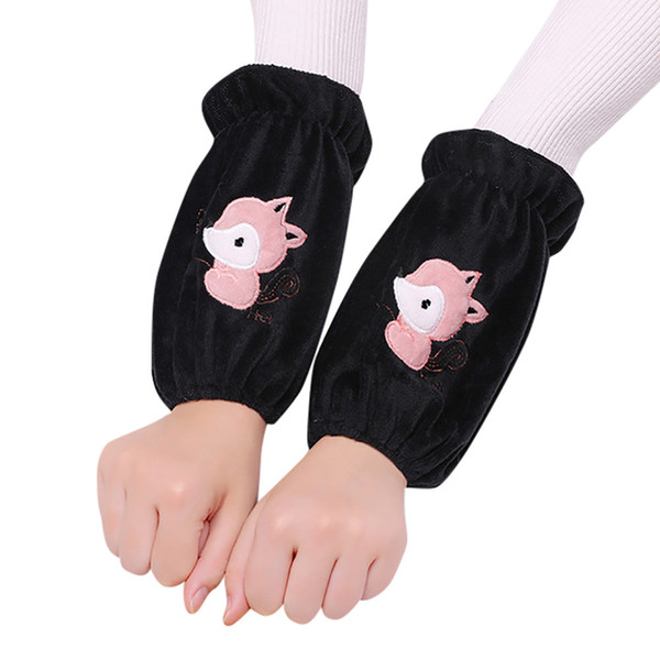 1 Pair Flannel Fox Cuffs Oversleeve Sleeve Colorful kitchen Adult Children Gloves