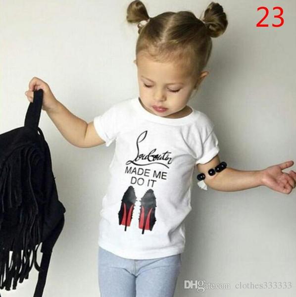 New INS Neonati maschietti Lettera Sets Top T-shirt Toddler Infant Casual manica corta Tute Primavera Bambini Abiti Abbigliamento regalo 06