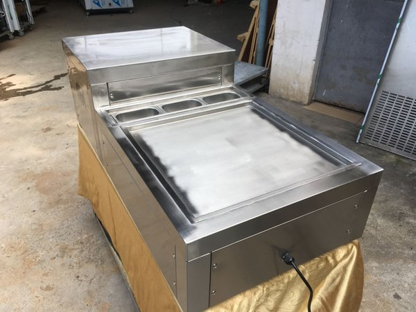 Free shipment EU USA 50*50CM pan desktop countertop instant FRY ICE CREAM MACHINE instant fried ice cream roll machine WITH FULL REFRIGERANT