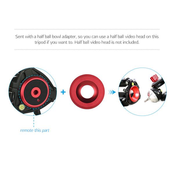 Andoer Caméscope Professionnel Trépied Monopode Stand dslr Trépied Titulaire pour Caméscope avec Fluid Dray Quick Release Plate