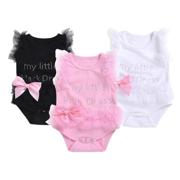 13ebddd9fcba Mikrdoo 2018 Cute Baby girl lace romper Newborn Infant Bow Sleeveless Romper  Dress Birthday party dress For 0-24Months