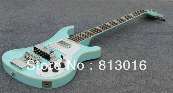 Wholesale Hot!- New arrived 4003 bass rick light blue color electric bass guitar silver hardware Musical Instruments Free shipping