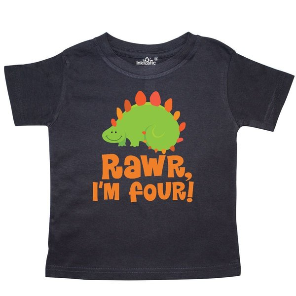 a4aed6097 Inktastic 4th Birthday Funny Dinosaur 4 Years Toddler T-Shirt Fourth Four  Year Funny free