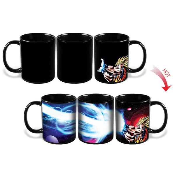 Kamehameha Goku Mug Tasse à café réactive à la chaleur Dragon Ball Z Mug à colorier en céramique