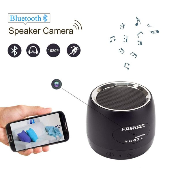 1080P Bluetooth Speaker Wireless Wifi Camera Motion Detection/Real-Time View/Loop Recording/Music Player For Home Baby Monitor Security Cam