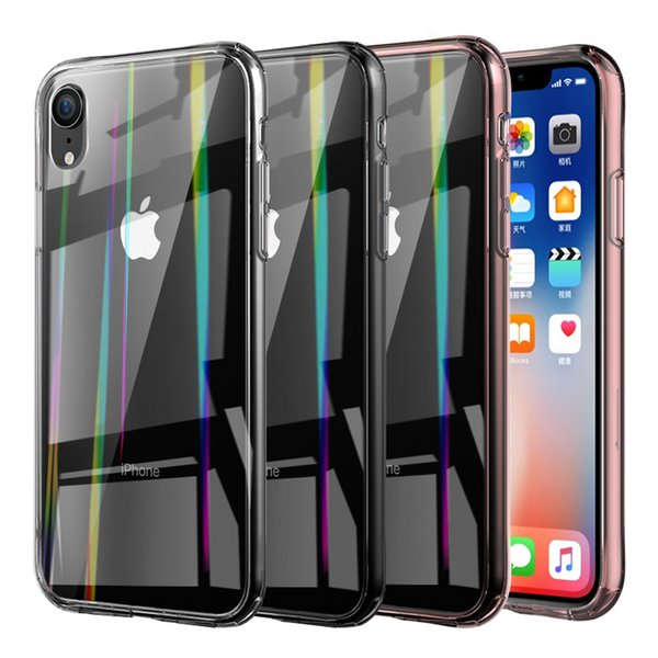 6D Tempered Glass Back Cover Clear Case For Apple iPhone X / XR / XS / XS Max Premium Soft TPU Bumper Protection Case