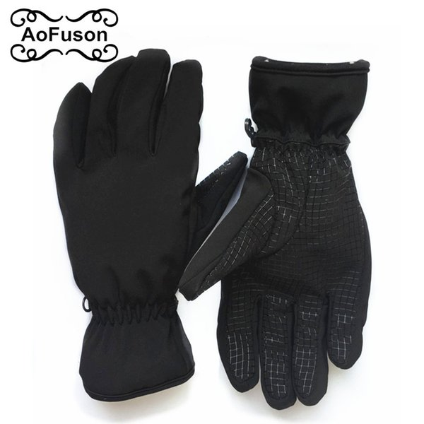 Winter Thermal Snowboard Ski Gloves Unisex Waterproof Cool-Resistant Snowboard Non-slip Gloves Guantes for Skiing Snowboarding