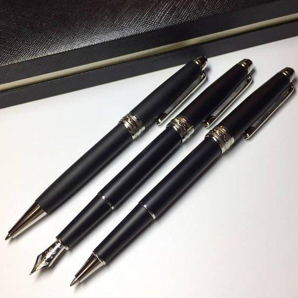 Opcional MT 163 bolígrafo Matte Black Classique bolígrafo / bolígrafo y plumas estilográficas mb bolígrafos para escribir regalos