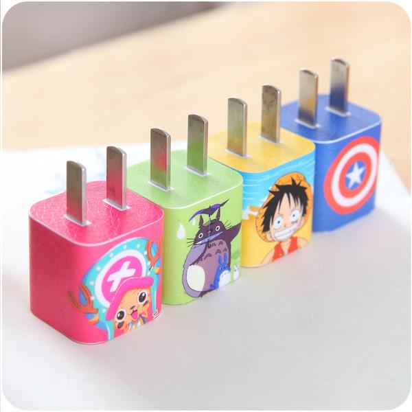 Lindo Cable USB de Dibujos Animados Protector de Auriculares Etiqueta Adhesiva de Cable Pegatinas para el iPhone 5 6 6s 7 8 X 8 más