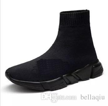 2018 Luxury Sock Shoe Speed Trainers Running Sneakers Speed Trainer Sock Race Runners black Shoes men and women Sports Shoes TOP QUALITY