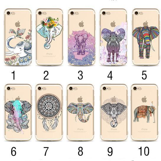 3D Cartoon Animals Elephant Soft tpu Painted Case for iPhone X XS MAX XR 8 7 6 6s plus 5 5s se 5c Flower Painted Floral Phone Shell Cover
