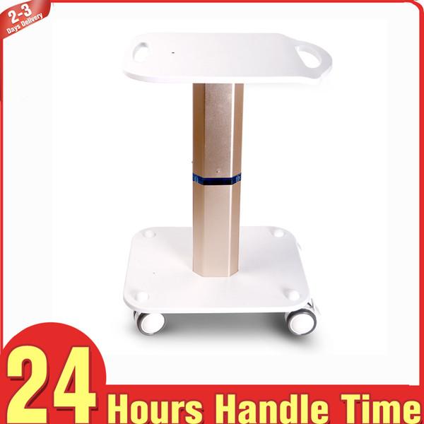 Aluminium Shape Stand Rolling Cart Trolley Display for Spa Beauty Machine Cavitation RF Vacuum Slimming Device