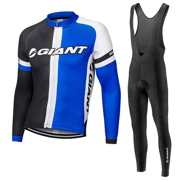 Giant Cycling long Sleeves jersey (bib) pants sets outdoor sports men's tops wear comfortable breathable quick drying J101004