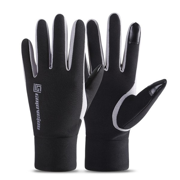 2019 Men Touch Screen Thicken Riding Windproof Waterproof Warm Leather Gloves