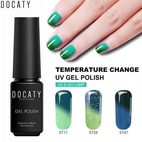 Docaty Gel Nail Polish Temperature Color Changing Nail Polish Professional Long Lasting Thermal Color Change UV Gel Lacquer