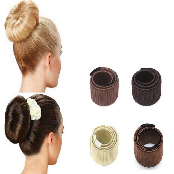 Moda Donna Bun Maker Accessori per capelli Hairstyle Dish Twist Ciambelle Bud Head Ball Ladies Sweet Girls Hair Band Strumento fai da te HJL2017