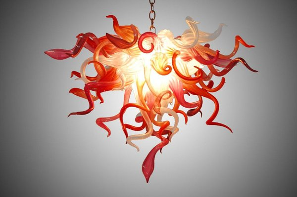 Red and White China Factory-outlet Murano Glass Chandelier Living Room Cheap Art Crystal Art Pendant Lamp