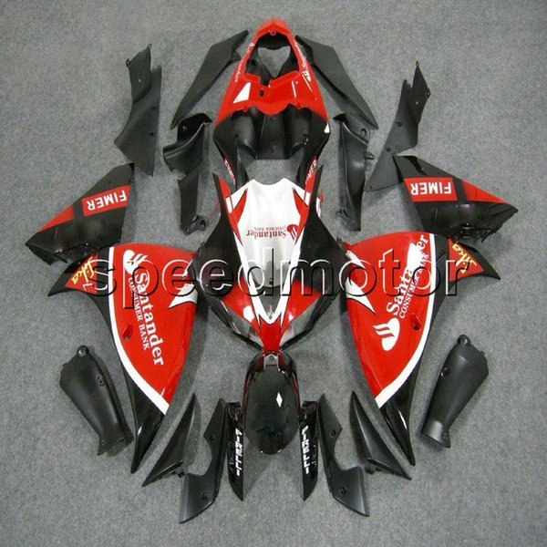 Custom + Screws FIMER rojo negro Body Kit YZFR1 09-11 YZF-R1 2009 2010 2011 ABS motocicleta carenado para Yamaha