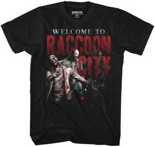 Resident Evil Capcom Video Game Welcome To Racoon City Adult T Shirt Personality 2018 Brand Short Sleeve Tops Tee