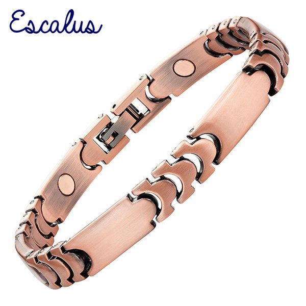 Escalu 2018 Health Copper Plating Magnetic Bracelet For Women Ladies Magnet Jewelry fashion Healing Charm Bracelets Wristband