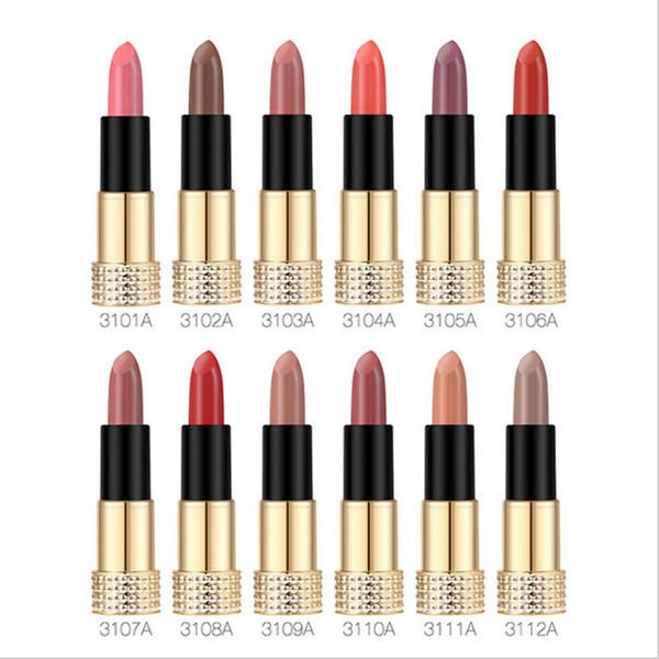 O.TWO.O 12colors Matte Lipstick Matte Long Lasting Kissproof Waterproof Matte Lip gloss Make Up Lip Golden Series DHL