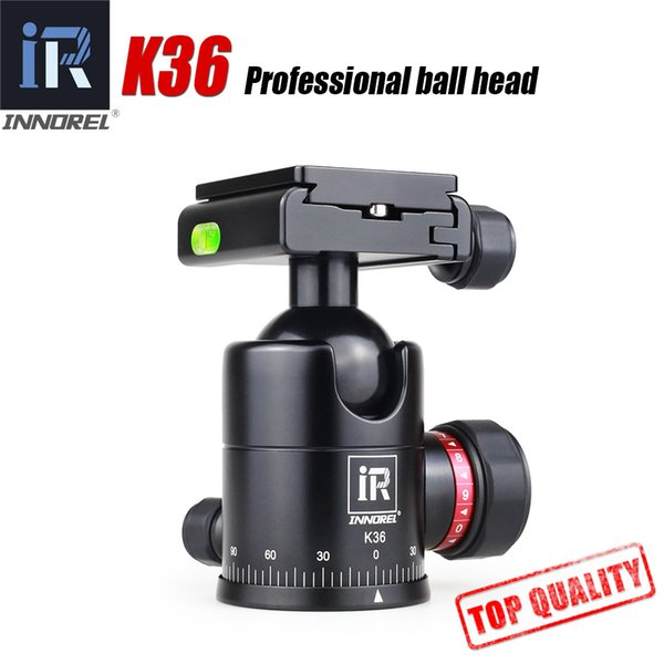 K36 Camera Tripod Ball Head with Quick Release Plate tripod head for Monopod Slider All CNC high performance price ratio