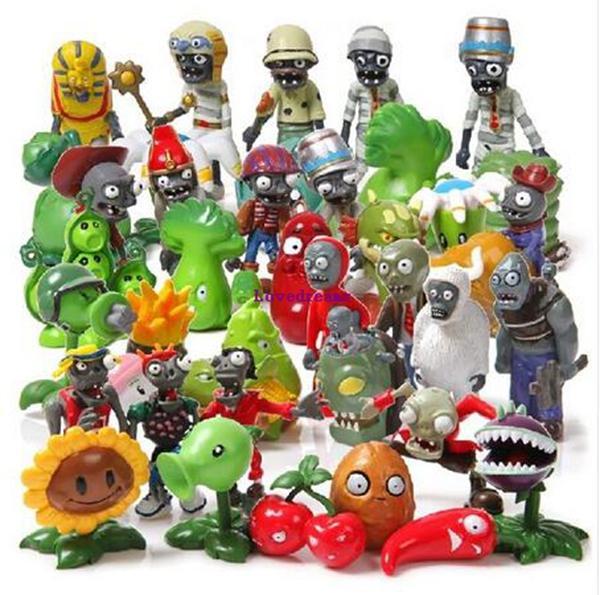 Envío gratis 40 Unids / lote Plants vs Zombies Toy 3-7cm PVZ Colección Plant Zombine Figura Juguetes Regalos Accesorios para teléfonos