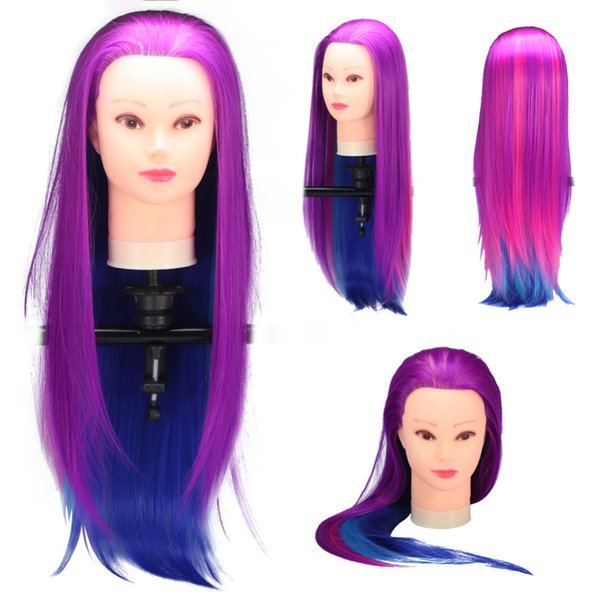 Nuevo modelo de cabello humano largo peluquería práctica entrenamiento maniquí cabeza maniquí corte de pelo modelo