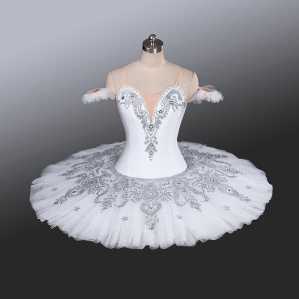 Meninas Branco Cisne Profissional Tutus Branco Ballet Trajes Adulto Meninas Azul Marinho Panqueca Ballet Tutu Tutu Bandeja Azul Para As Crianças