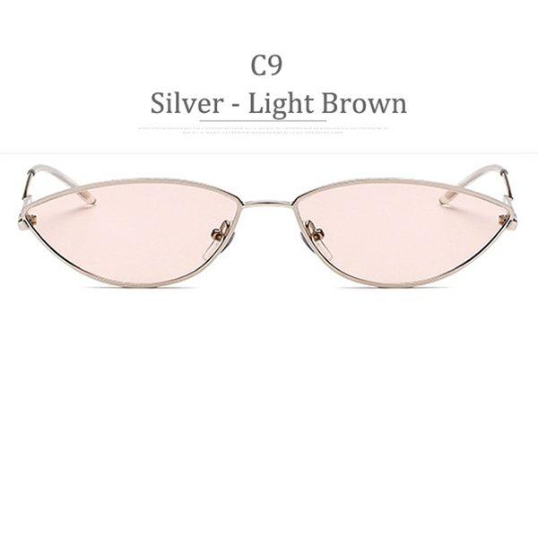 Lente marrone chiaro C9 Silver Frame