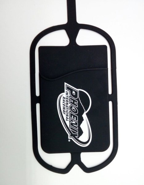 Beautiful custom logo Universal Silicone Sling Lanyard Necklace Wrist Strap Phone Case silicone lanyard with id card holder