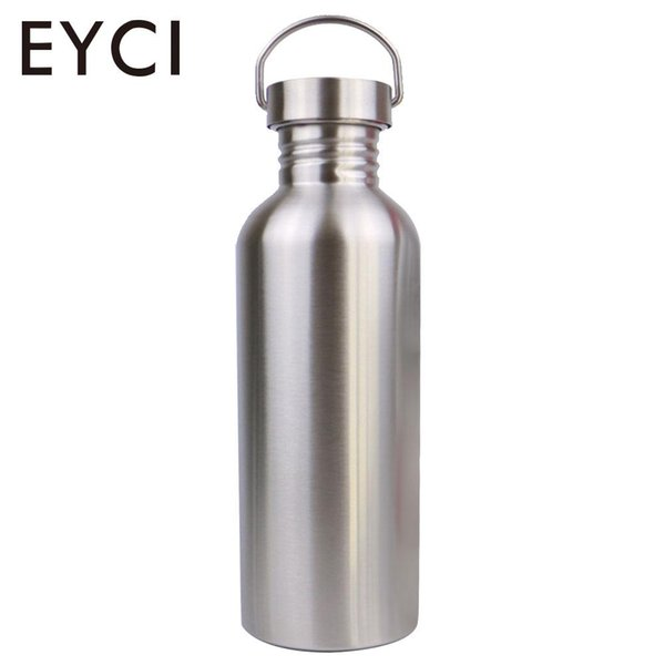 Stainless Steel Outdoors Sport Bottle Drinking Cup Sports Water Bottle Silver Portable