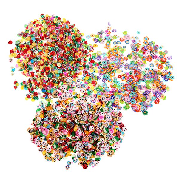 1000pcs Orange Stickers Fruit/Flower/Animal 3D Polymer Clay Tiny Fimo Fruit slices Nail Art DIY Designs Nail Art Decorations