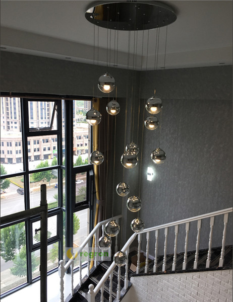 Verre 1 M Long Lumière De Escalier E27 Led Extra Pêche Suspendus Acheter Cube Moderne 4 Spirale Suspension Lampes Hôtel Luminaire Pendant Lampe ucFKlJ31T